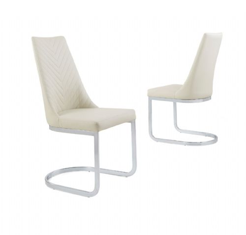Curve Classic Milano Stitch Dining Chair - Cream